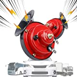 MEIREN Train Horn for Truck, Electric Snail Horn, 2PCS Train Horn, Car Horn Loud, 12V Air Horns for Motorcycle, Train…