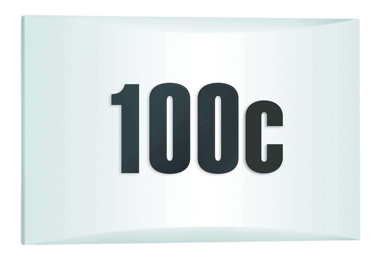 Steinel LED Außenleuchte LN 1 LED mit Dämmerungsschalter, LED Wandlampe inkl. Hausnummer, 4,5 W, 350 lm, Schlagfest IK07, 5,3 x 30 x 19,5 cm, Weiß [Energieklasse A++], 649715 [Energieklasse A++]