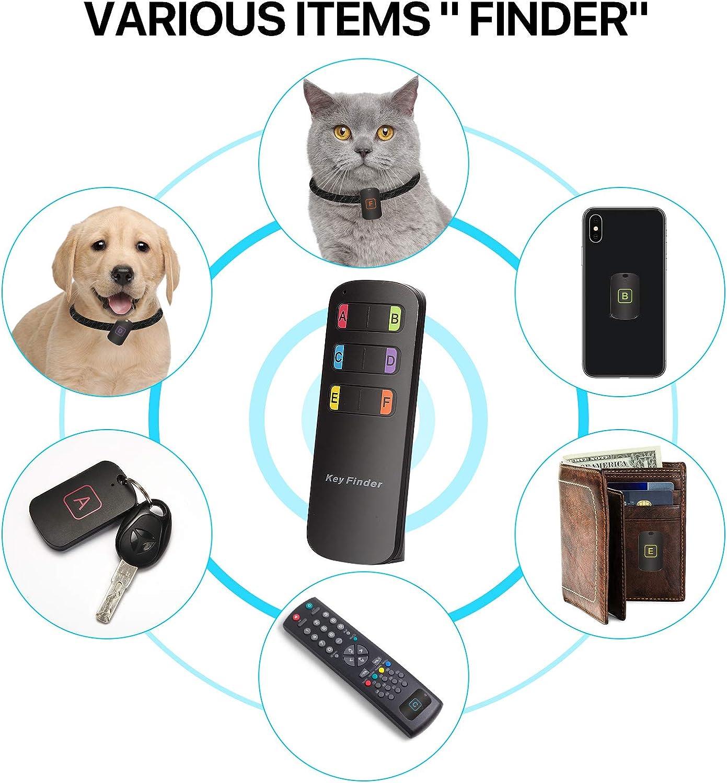 Pet Tracker Wallet Tracker 1 Transmitter with 6 Receivers Hyrrt Key Finder Wireless RF Item Locator Key RF Locator