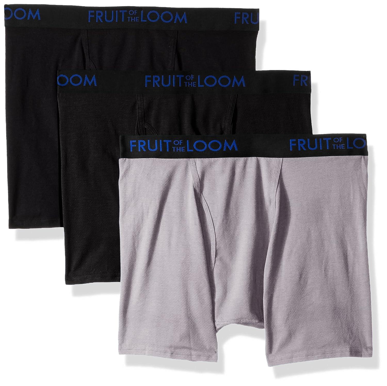 Fruit of the Loom Men's Premium 3pk Breathable Cotton Micro-mesh Boxer Brief