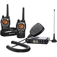 Midland Consumer Radio GXT1000XB Micro Mobile 5W Gmrs with A Portable 36-Mile 50-Channel GMRS Two-Way Radios Bundle