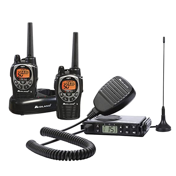 Midland - Xtreme Bundle - GXT1000, 50 Channel GMRS Two-Way Radio - Up to 36  Mile Range Walkie Talkie, 142 Privacy Codes & Waterproof (Pair Pack)