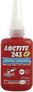 Genuine LOCTITE 243 x 50ml Medium Strength Oil Tolerant Threadlocker