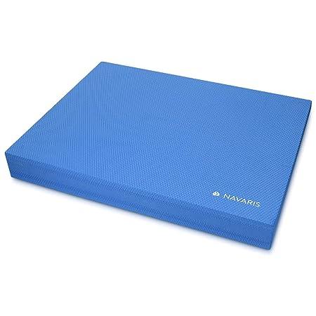 Navaris colchoneta de coordinación - Plataforma de Equilibrio para Ejercicios de Yoga y Pilates - Cojín Fitness 50 x 39 x 6.5CM - Almohadilla Azul