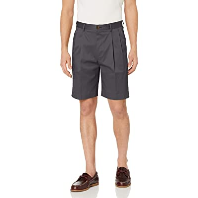 "Amazon Brand - BUTTONED DOWN Men's Relaxed Fit Pleated 9"" Inseam Chino Short, Supima Cotton Non-Iron: Clothing"