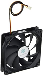 Silverstone Tek 120mm High Airflow and Less Noise with 9-Bladed Design Computer Case Fan Cooling, Clear FN121-P