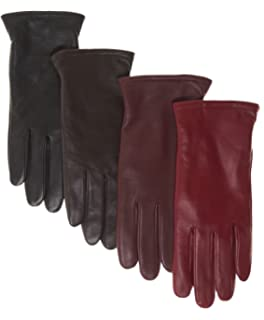 2aa63923c419c Super-soft Leather Winter Gloves for Women Full-Hand Touchscreen ...