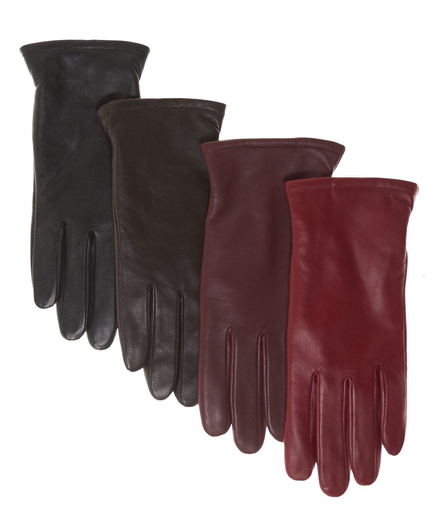 Pratt and Hart Women's Classic Thinsulate Lined Leather Gloves Size 7 1/2 Color Black