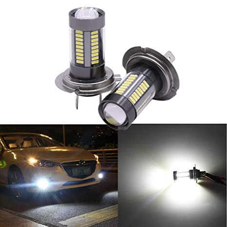FEZZ 1000LM Coche Bombillas LED para Luz Antiniebla DRL Luz Diurna de Conducción Super Brillante,