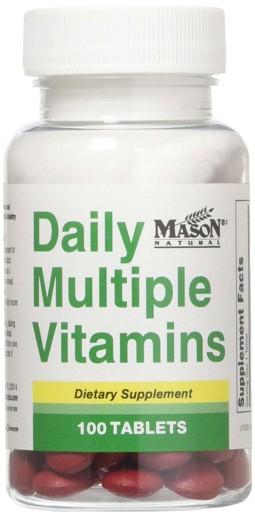 Mason Vitamins Daily Vitamins Tablets, 100 Count