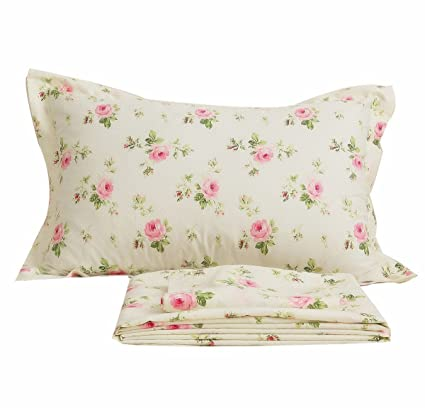 Amazon.com: FADFAY Sheet Set Twin XL Farmhouse Bedding Pink Rose