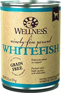 Wellness 95% Natural Wet Grain Free Canned Dog Food, 13.2 Ounce Can (Pack of 12)