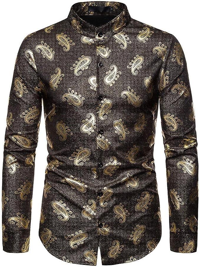 Camiseta hombre oro estampado africano indio VJGOAL Polo talla L ...
