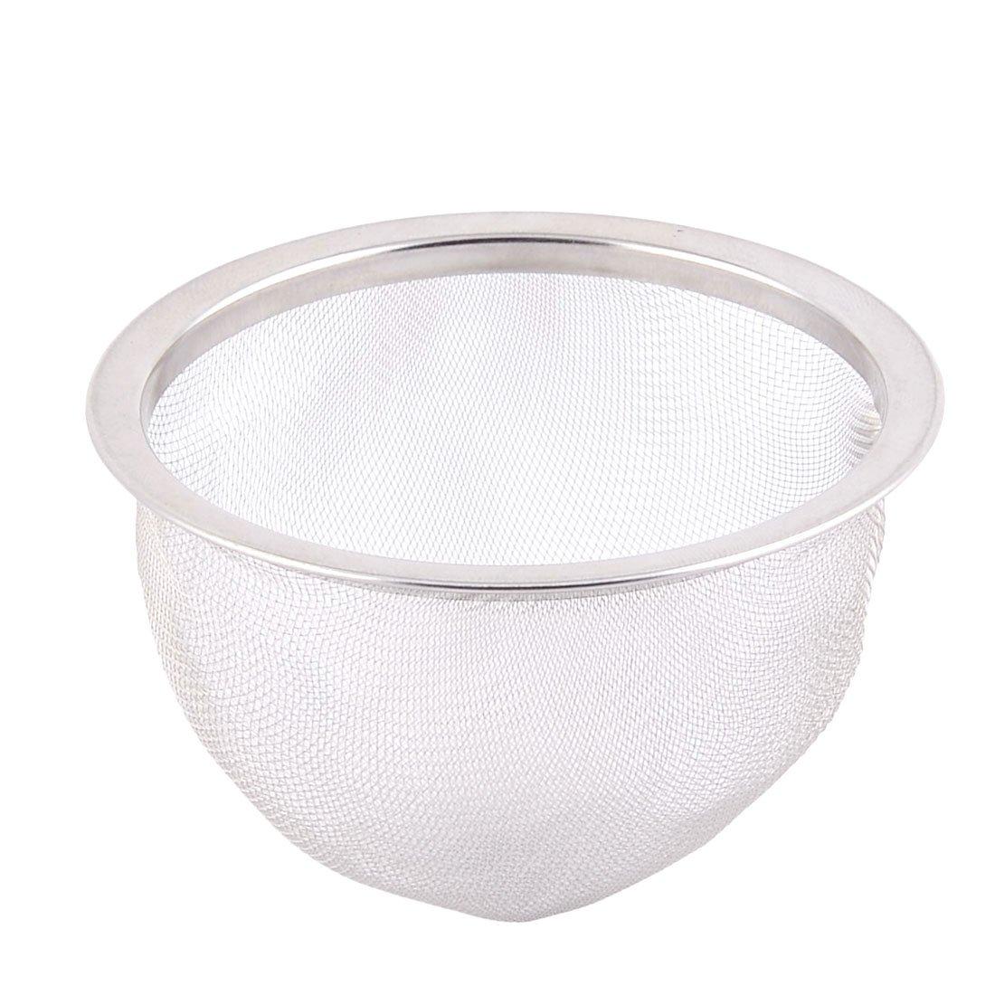 uxcell Stainless Steel Mesh Tea Leaf Spice Teapot Filter Teakettle Strainer 75mm Dia