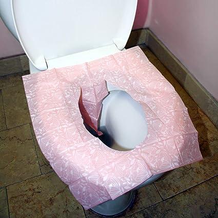100/% ANTI-BACT/ÉRIEN Protege WC Jetable 50PCS Prot/èges Cuvette WC Jetables BIODEGRADABLES Toilettes Publiques Hygi/ène aux Toilettes Garantie Gr/âce aux Couvre-Si/èges WC Papier pour Voyage