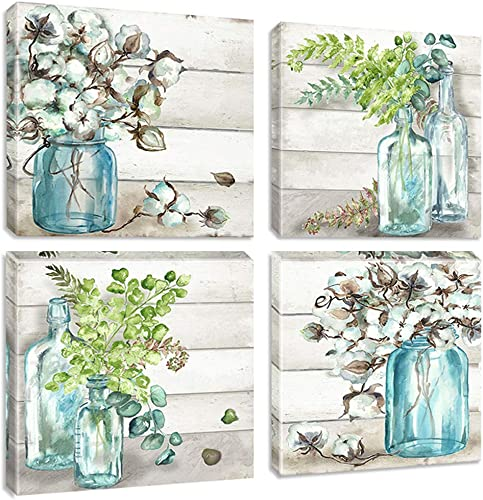 Biufo Floral Wall Art Canvas Prints Green Plant