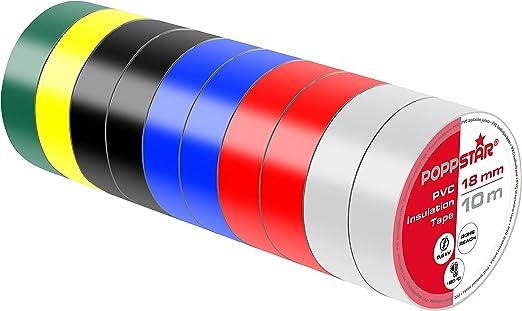 1,8cm x 20 mtr.,Isolieren Band Isolierband Iso Band Klebeband schwarz