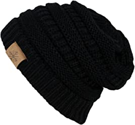 ANGELA   WILLIAM Winter Warm Thick Cable Knit Slouchy Skull Beanie Cap Hat c4143b274783