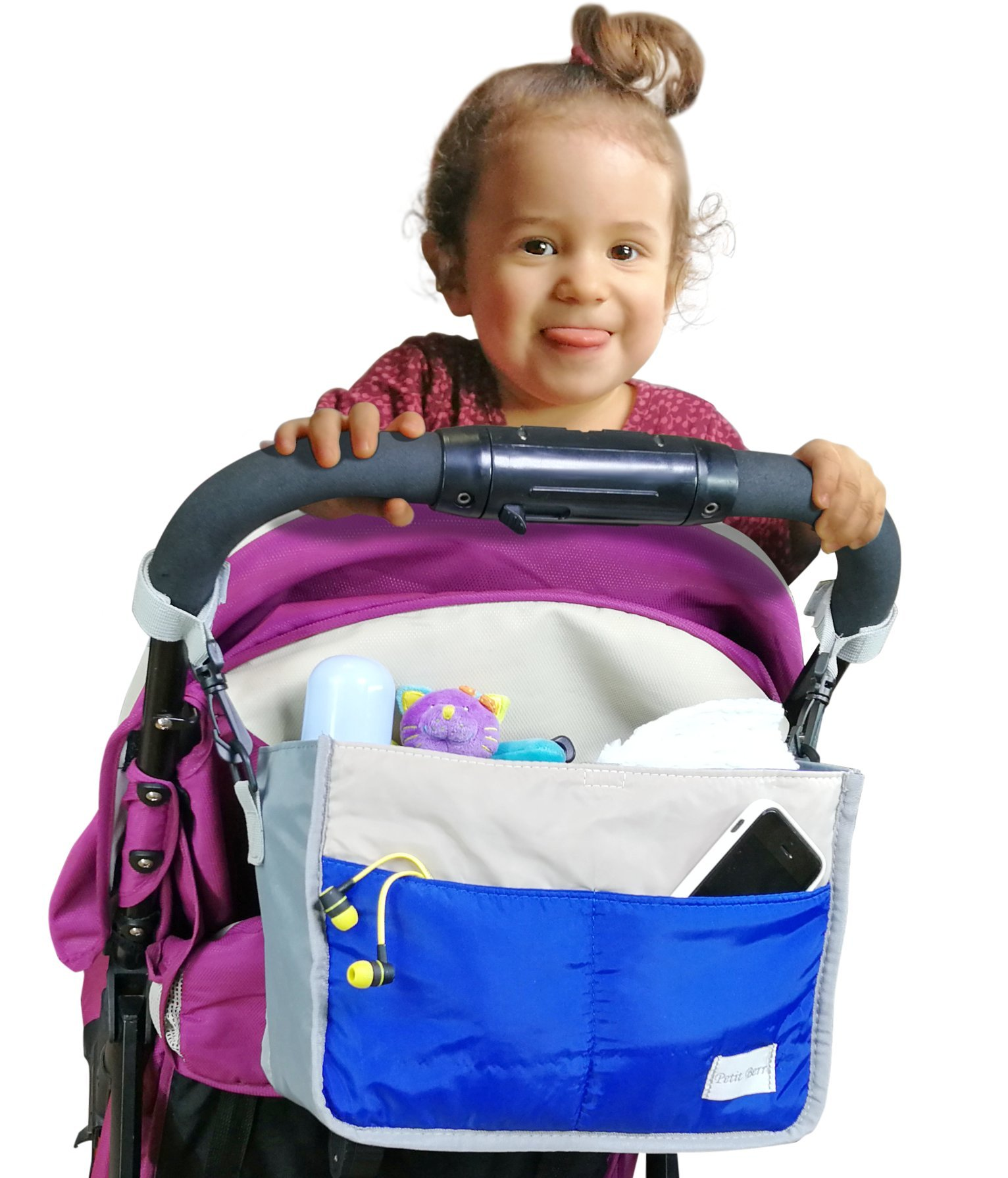 My FL Universal Baby Stroller Organizer Bottle Cloth Diapers Holder Hanging Storage Bag (Blue)