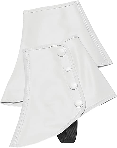 Spats, Gaiters, Puttees – Vintage Shoes Covers Snap Spats (White Large) by Directors Showcase (DSI)  AT vintagedancer.com