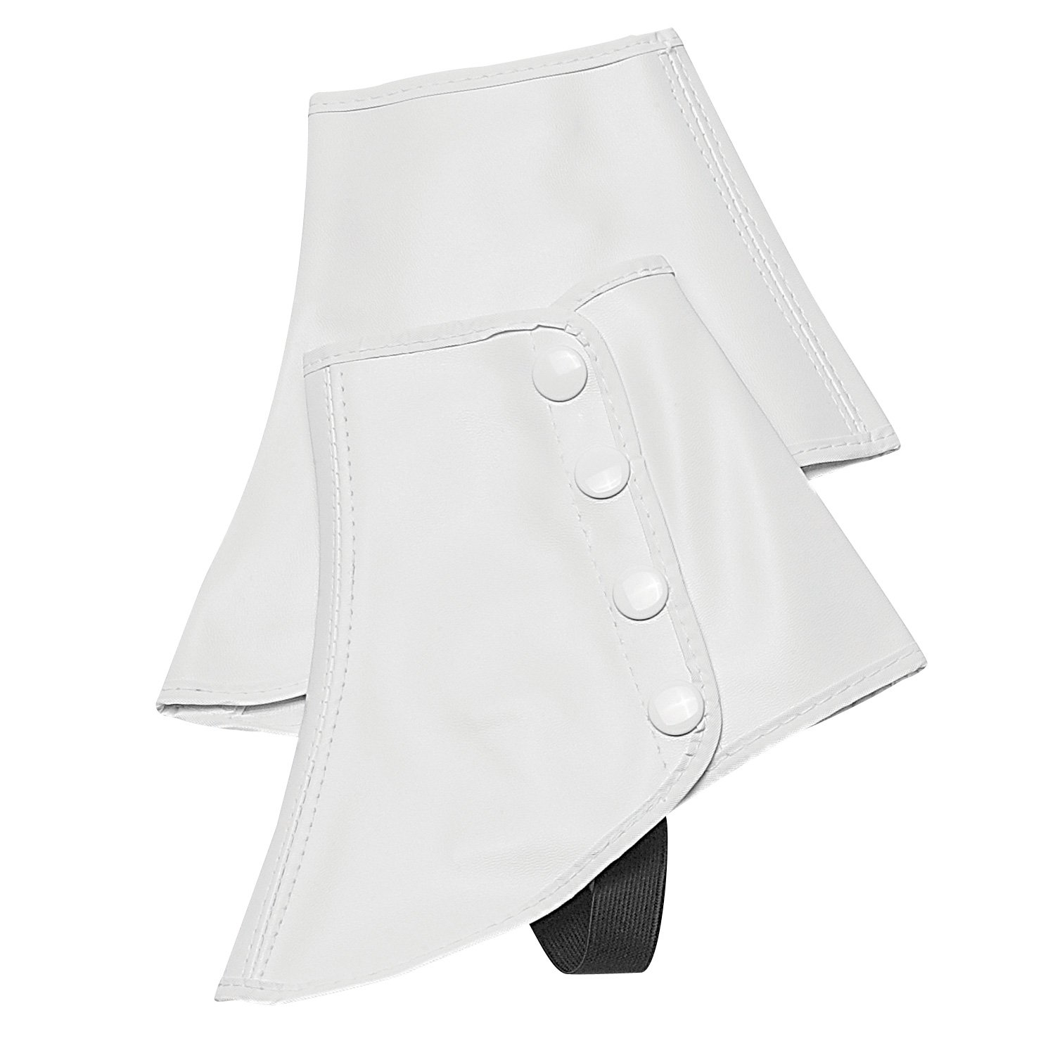 Victorian Men's Costumes: Mad Hatter, Rhet Butler, Willy Wonka Snap Spats (White Large) by Directors Showcase (DSI) $13.95 AT vintagedancer.com