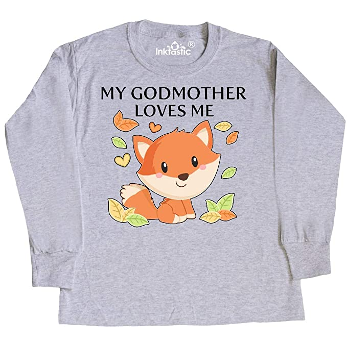bdcdad89 Amazon.com: inktastic - My Godmother Loves Me- Little Fox Youth Long Sleeve  T-Shirt 3441e: Clothing