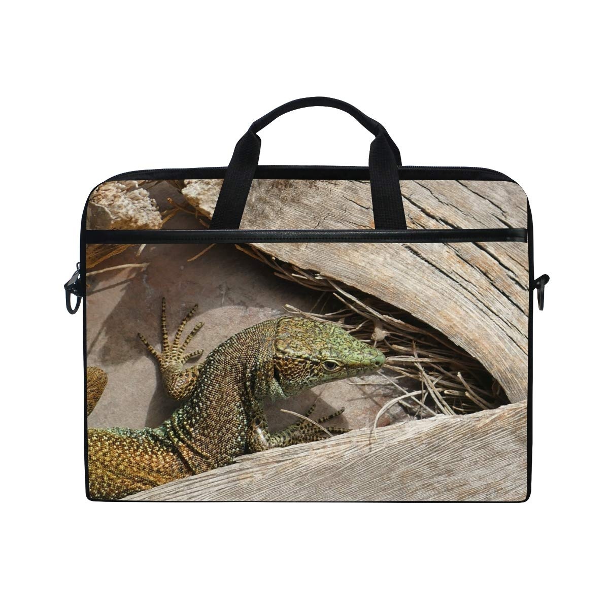 Lizard Mens and Womens Computer Bags Shoulder Bags Handbags Briefcases Suitable for 15 Inch Computers