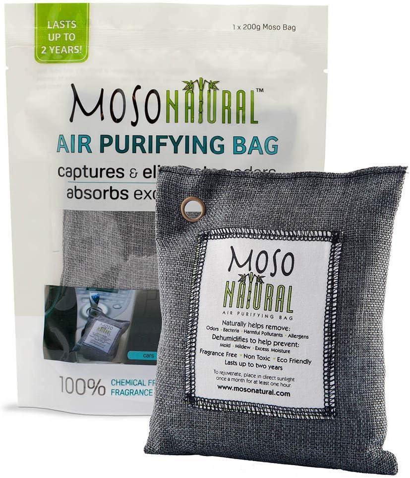 Moso Natural 200 Gram Air Purifiant Sac, Charbon de Bois