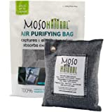 Moso Natural Air Purifying Bag, Odor Eliminator for Cars, Closets, Bathrooms and Pet Areas, Captures and Eliminates Odors, Charcoal Color, 200 g