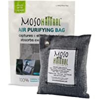 Moso Natural Air Purifying Bag 200g. Odor Eliminator for Cars, Closets, Bathrooms and Pet Areas. Captures and Eliminates Odors.