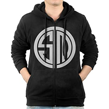 jljk men s team solo mid tsm team logo zip up hoodie jackets black