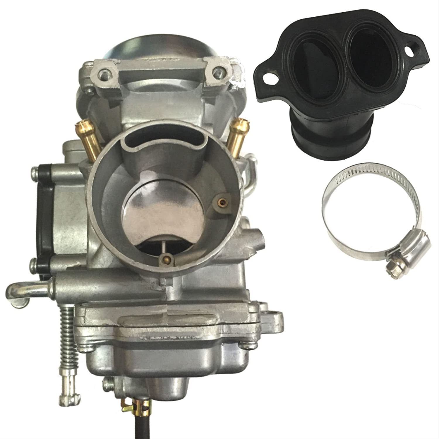 ZOOM ZOOM PARTS CARBURETOR INTAKE MANIFOLD ADAPTER BOOT FITS POLARIS SPORTSMAN 700 4X4 2002 2003 2004 2005 2006
