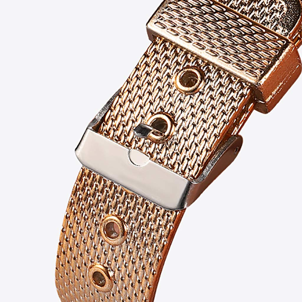 Pocciol Fashion Military Stainless Steel Quartz Watch Womens Casual Watch Luxury Analog Wristwatch (Red) by Pocciol Cheap-Nice Watch (Image #5)