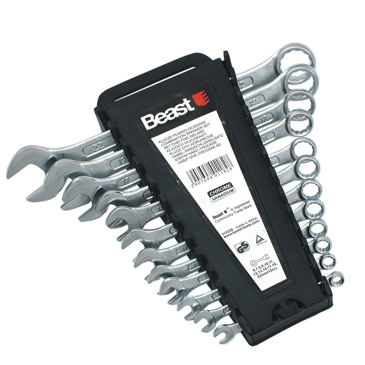 Juego de llaves combinadas 6-22mm 12 piezas