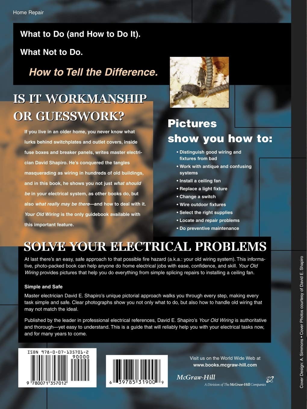 Your Old Wiring: David E. Shapiro: 0639785319009: Amazon.com ... How Long Will Wiring Last on