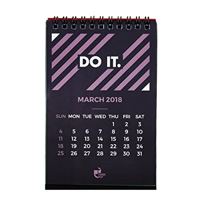 Thinkpot 2018 Do It Compact Motivational Calendar 6 X 4 Amazon