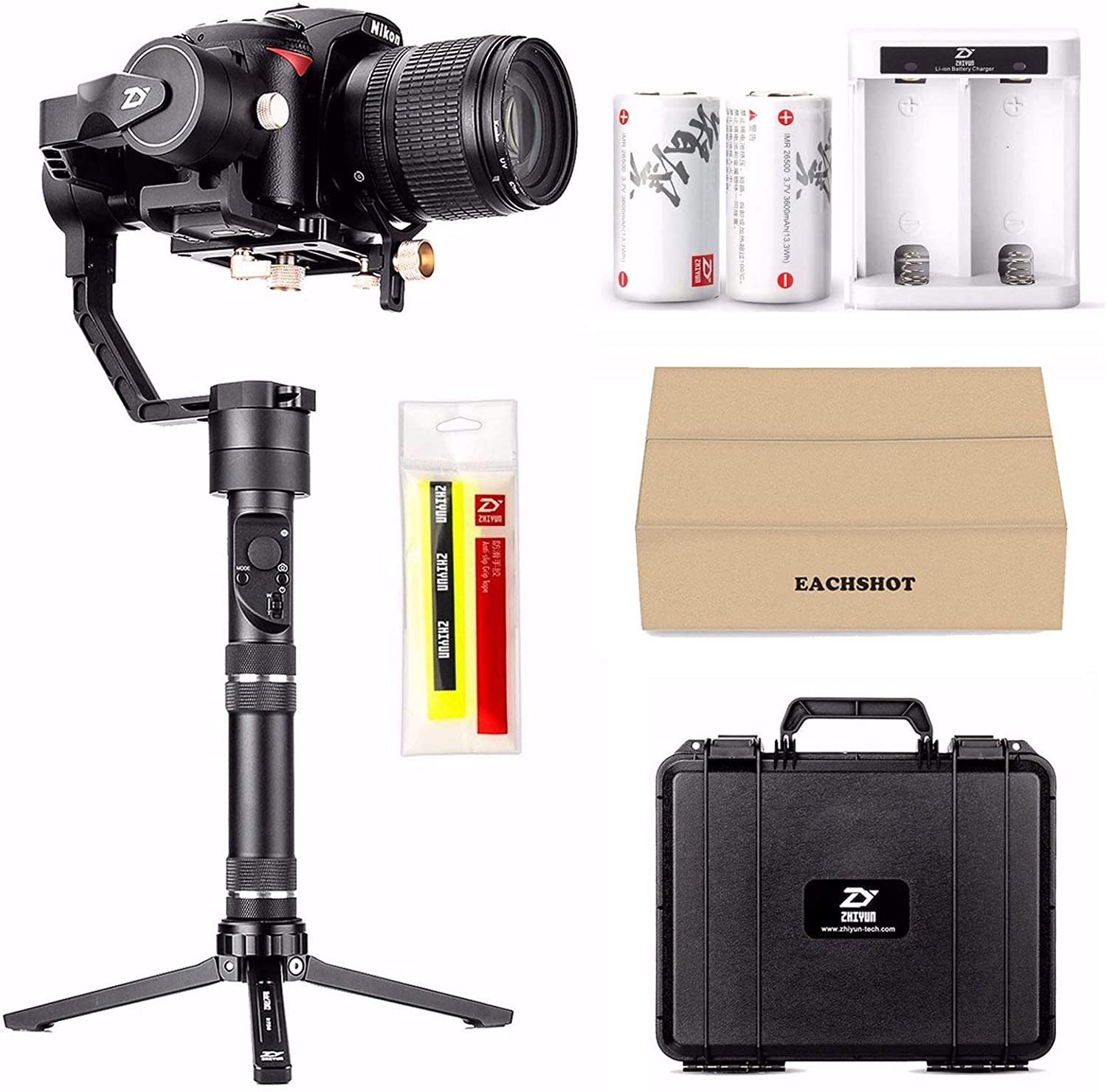 Zhiyun Crane Plus 3-Axis Handheld Gimbal Stabilizer for DSLR and Mirrorless Camera compatible Sony Panasonic LUMIX Nikon Canon POV Large Payload Timelapse Object Tracking New Version zhi yun Crane V2 : Camera & Photo