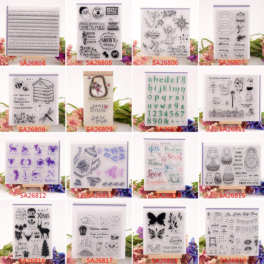 /Sello Sello de Silicona DIY /álbum de Fotos de Scrapbooking de Tarjeta Lagand Feliz Navidad n/ítido/