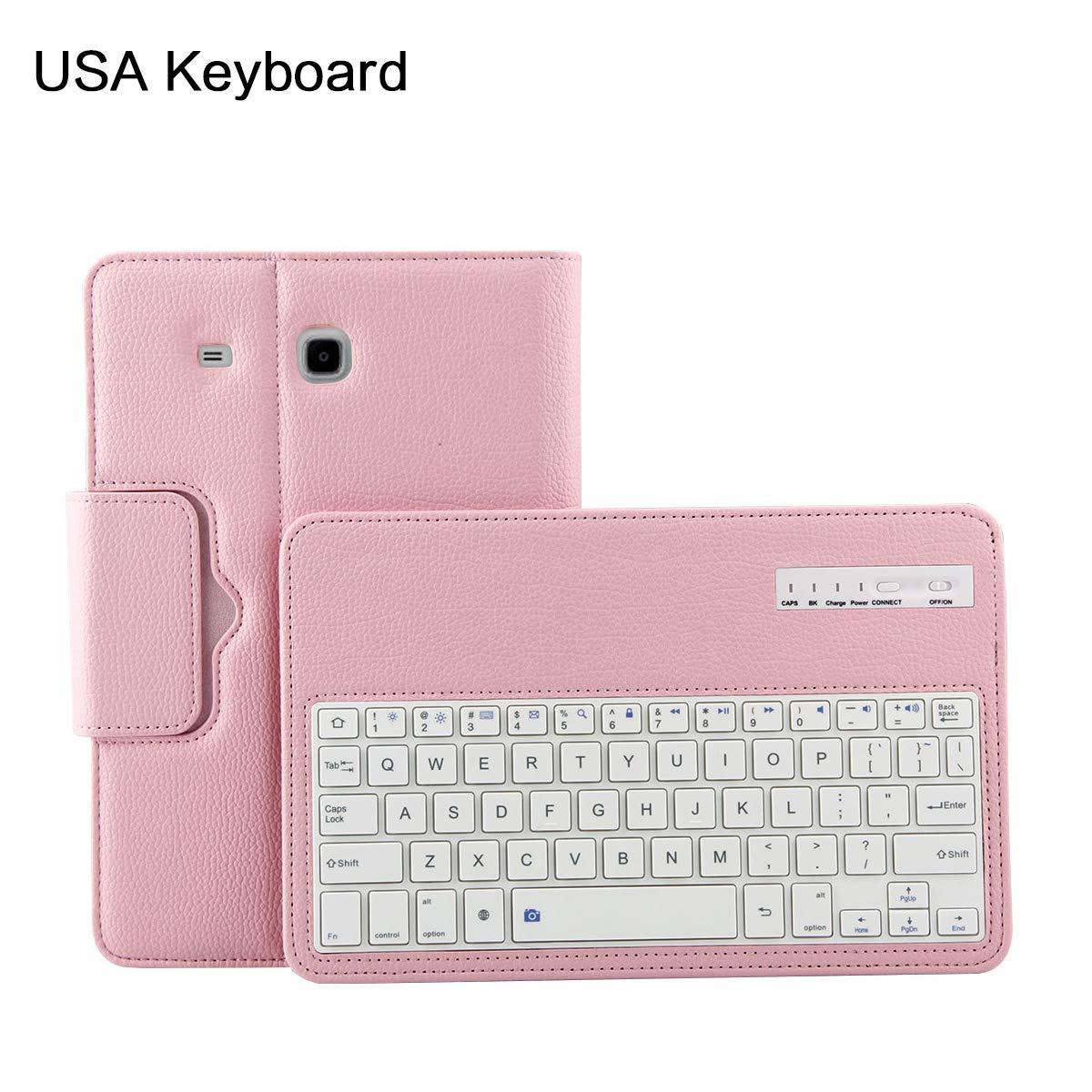 2019最新のスタイル Scheam Samsung Galaxy Tab E 9.6 T560 タブレット 9.6 Bluetooth B07L6WMR8L タブレット USA キーボード ケース ドロップ, ピンク, 1080-LT-810 ピンク B07L6WMR8L, ラグラグマーケット:3c112018 --- a0267596.xsph.ru