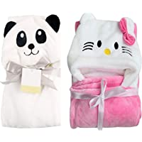 My Newborn Baby Blanket Wrappers -Combo of 2 Pcs (Katty-Panda)