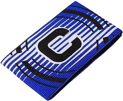 forfar Regolabile Bracciale elastico capitano Fasce di calcio Stripe adatta per adulti