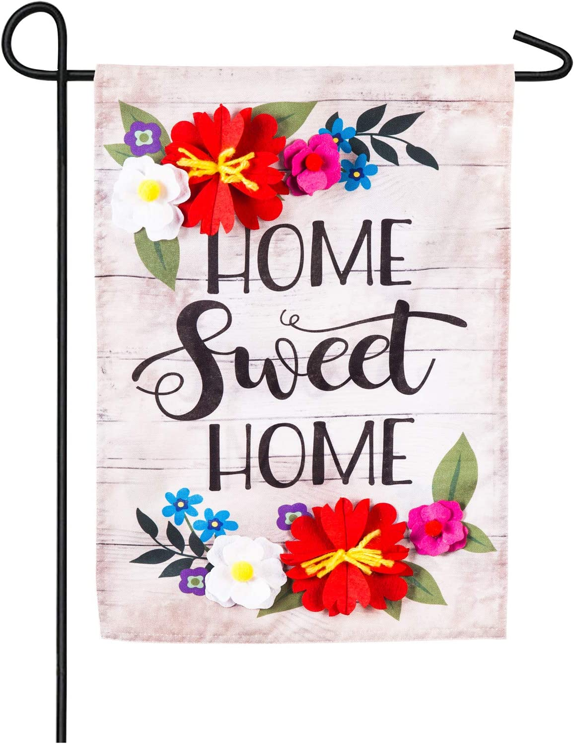 Evergreen Flag Floral Home Sweet Home Linen Garden Flag - 12.5 x 18 Inches Outdoor Decor for Homes and Gardens
