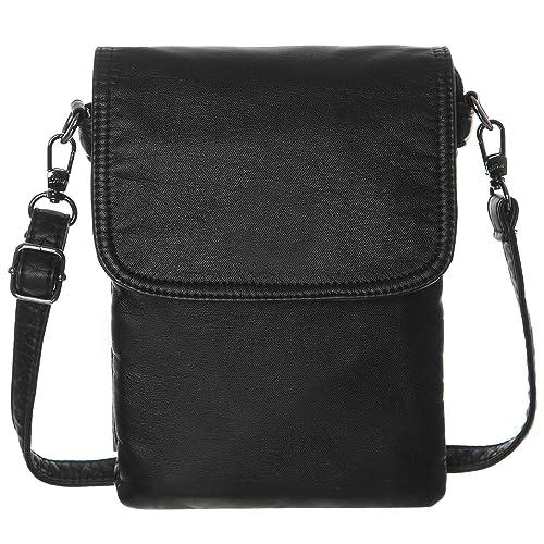 5ec1061d0d AOCINA Mini Crossbody Cell Phone Purse Credit Card Slots Small Crossbody Bag  for Women(Black