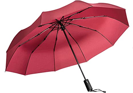 "Windproof Vented Design Auto Open Umbrella with /""Dupont Teflon/"" Fabric"