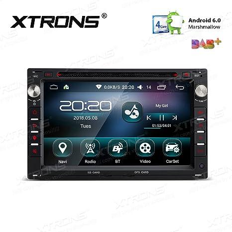 XTRONS 7 pulgadas Android 6.0 HD pantalla digital multitáctil coche radio estéreo reproductor de DVD 16