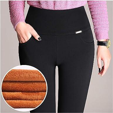 Amazon Com Eothdy Pantalones De Mujer De Talla Grande Finos Elegantes Calidos De Invierno Cintura Alta Elasticos Y Gruesos Clothing