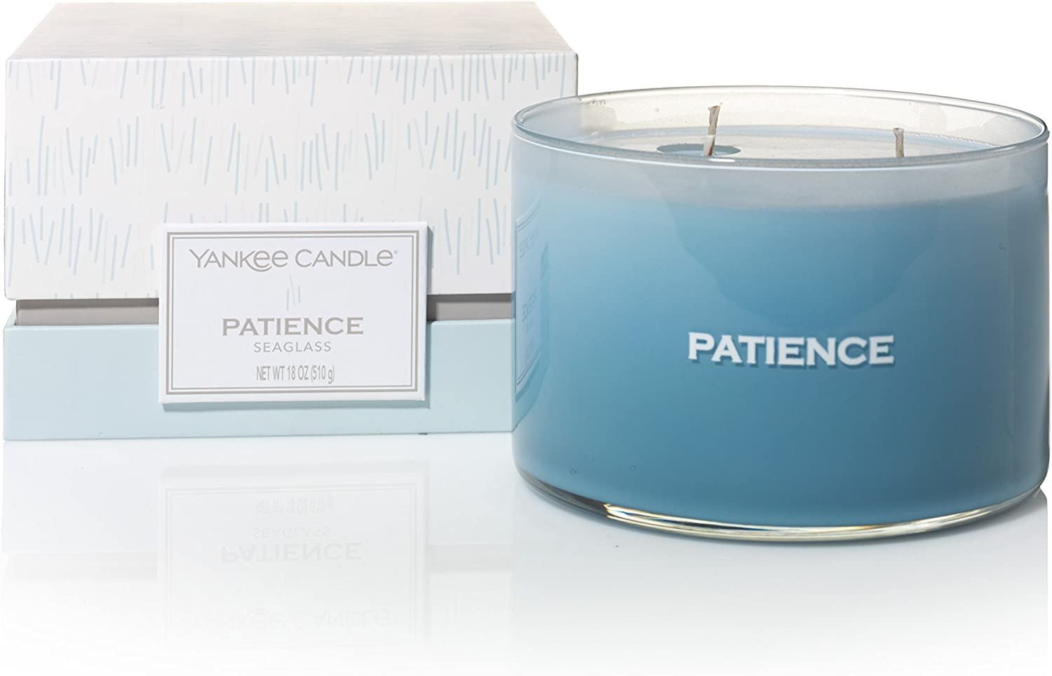 Yankee Candle Large Jar turquoise glass 623 G Limited Edition