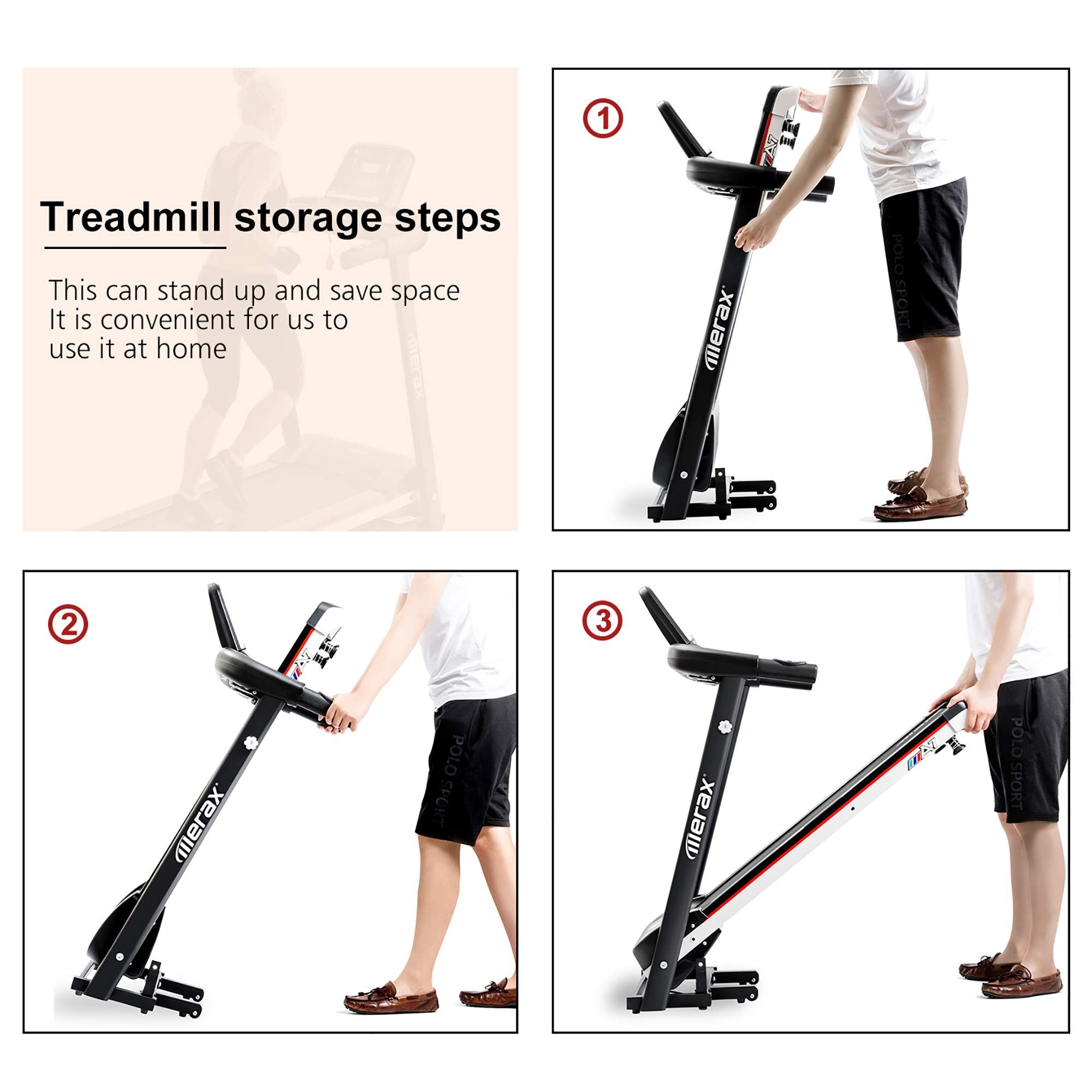 Merax Folding Electric Treadmill Easy Assembly Motorized Power Running Machine Fitness by Merax (Image #8)