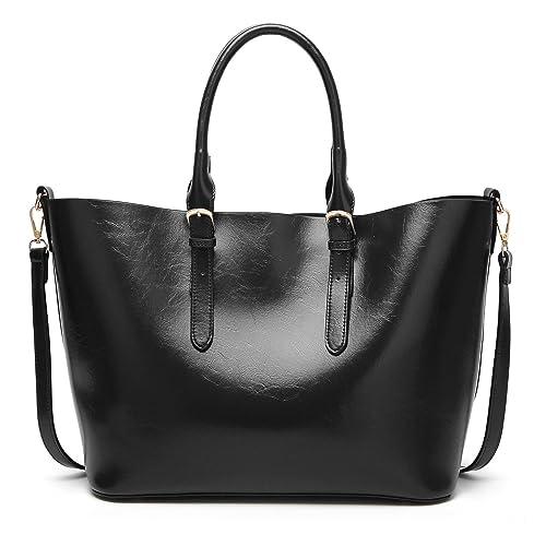 Amazon.com: juilletru bolsas de moda para mujer piel ...