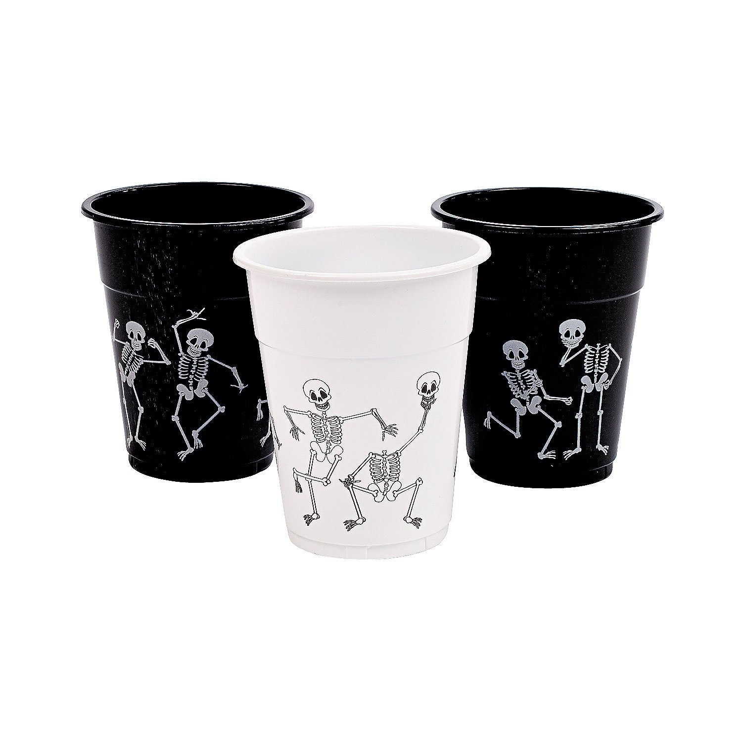 Halloween Skeleton Printed Disposable Cups Pack Of 50 2